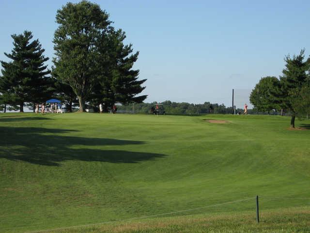 A view of the 7th hole at Lincoln Hills Golf Club