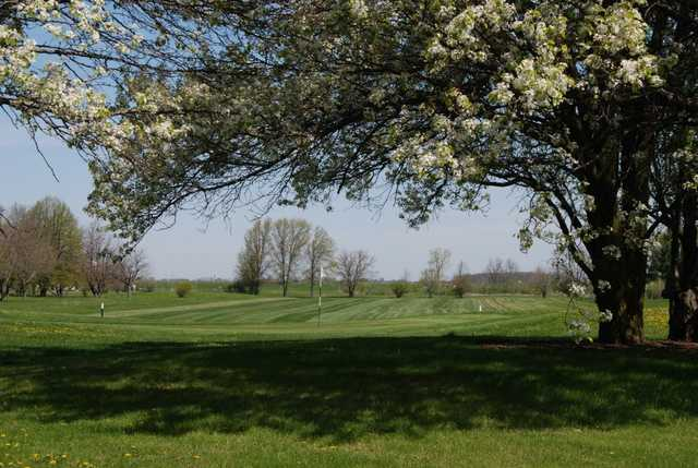 A spring day view from Hickory Sticks Golf Club