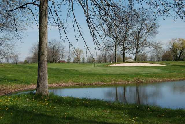 A view over the water from Hickory Sticks Golf Club