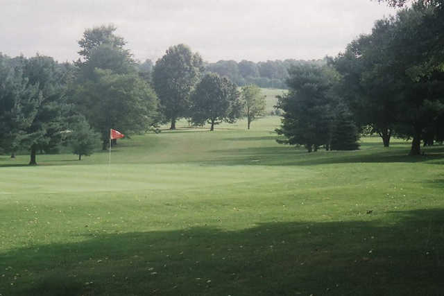 A view of a hole at Pine Valley Golf Club