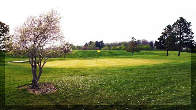 A view of the 9th hole at Ironwood Golf Course