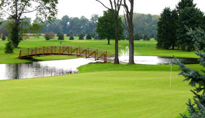 A view of a hole at River Greens Golf Course