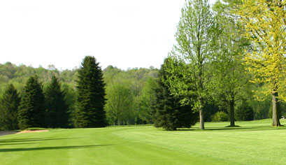 A view of a fairway at River Greens Golf Course