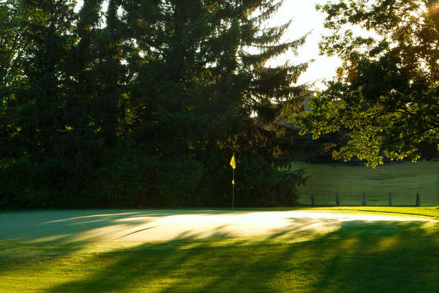 A view of a hole at Little Turtle Country Club