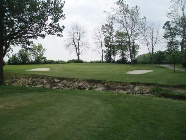 A view of the 12th hole at Hidden Hills Golf Club