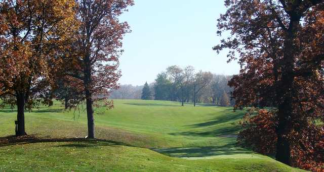 A view of a fairway at Wooster Country Club