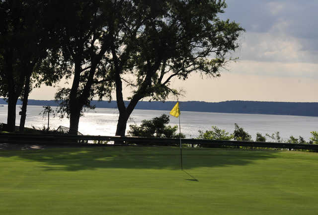 A view of a hole at Coves Golf Club