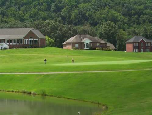 A green view from Patriot Hills Golf Club
