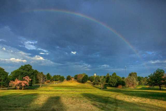 The rainbow over Nowata Country Club