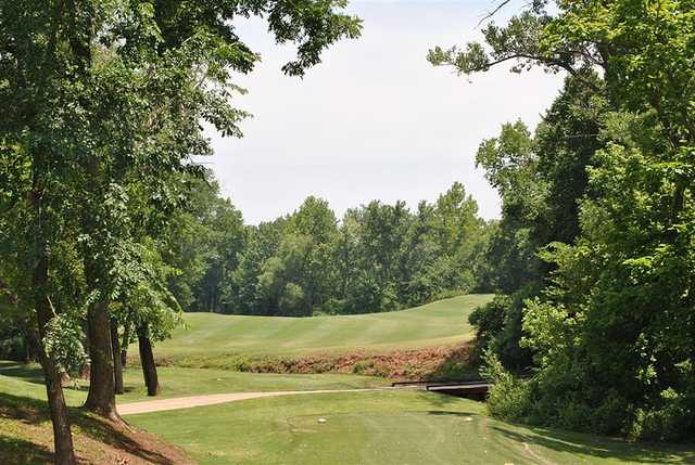 A view from a tee at The Links from Stillwater Golf & Country Club