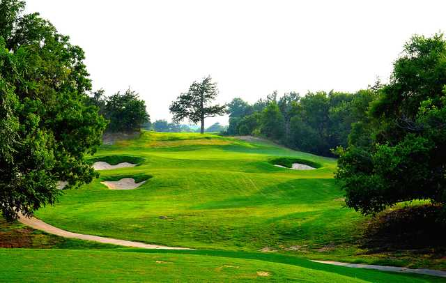A view of a green at Boiling Springs Golf Course