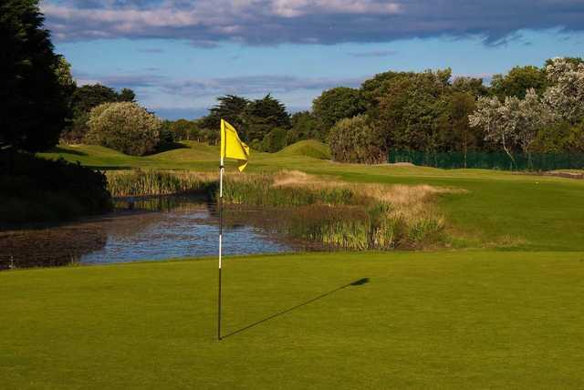 A view of green #4 at Sutton Golf Club