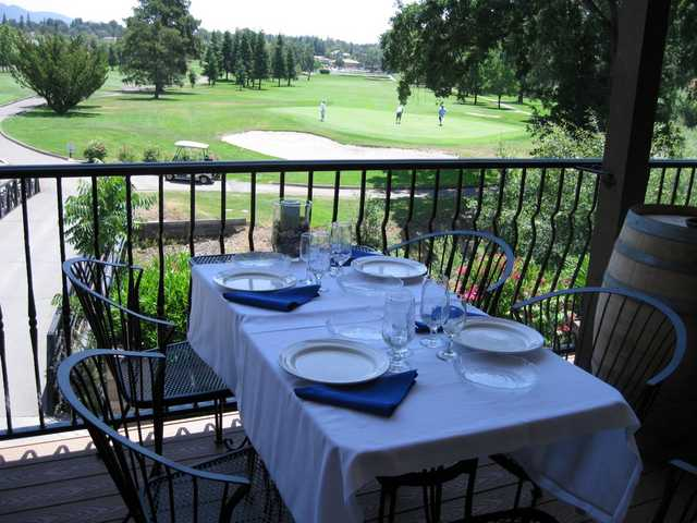 A view from the terrace at La Contenta Golf Club