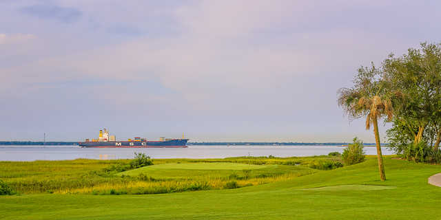 A view of the 17th green at Patriots Point Golf Links
