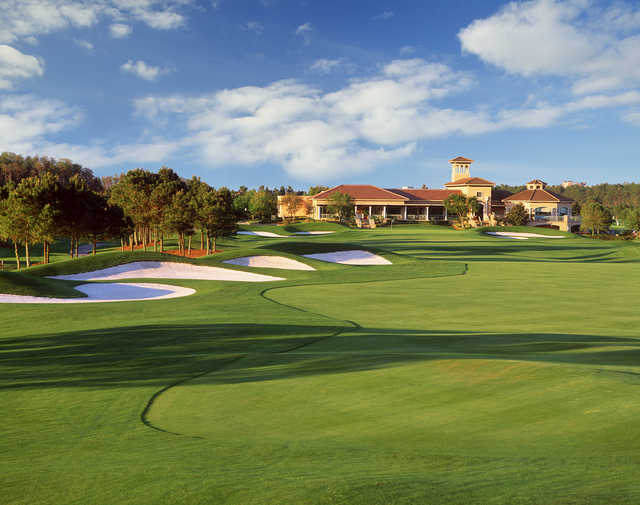 Like many golf courses in and around the Walt Disney World Resort area, Falcon's Fire has a stately clubhouse.