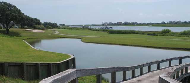 View of the 1st green at Brick Landing Plantation