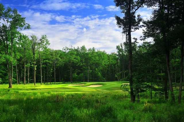 A view of hole #3 at Jack Frost National Golf Course