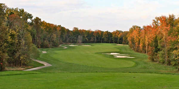 View from a tee at Broad Run Golf & Practice Facility