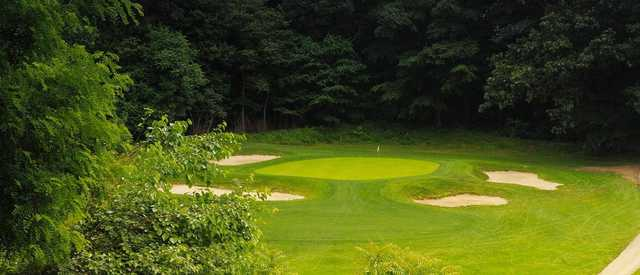 View of the 17th hole from the Karakung Course at Cobb's Creek Golf Club