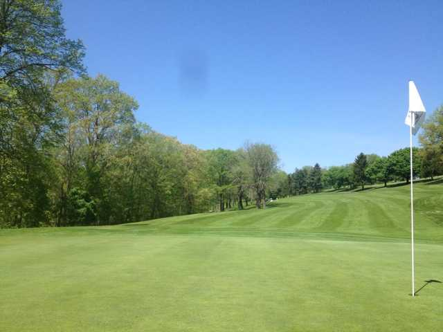 Looking back from the 4th green at Woodside from the Butler's Golf Course