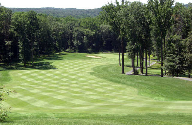 View of a fairway and green at Iron Valley Golf Club