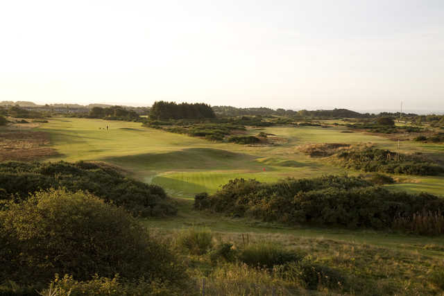A view of the Troon Links - Darley's 6th green