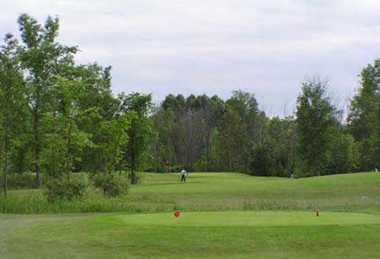 A view of the 8th green at Cardinal 18 Golf Club.