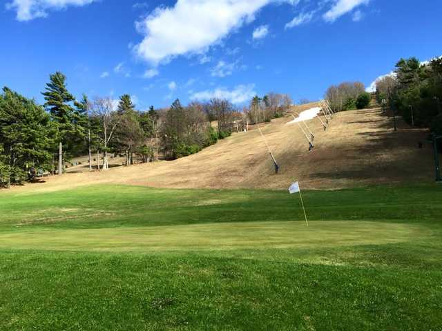 A view of a green at Tussey Mountain Golf Course