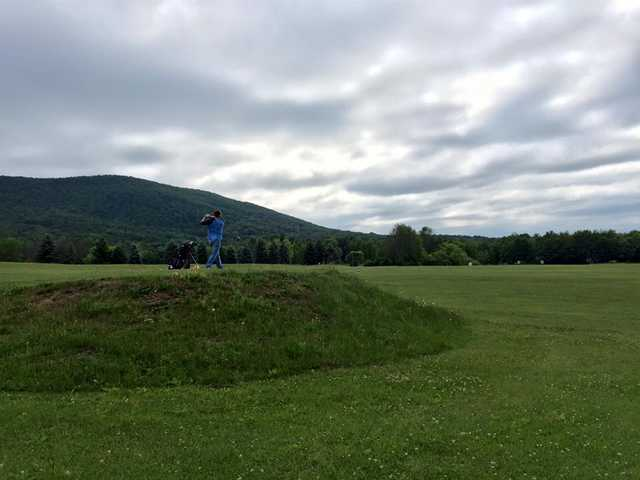 A view of the driving range at Tussey Mountain Golf Course
