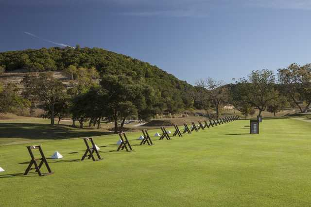 View of the driving range at Tapatio Springs Hill Country Resort