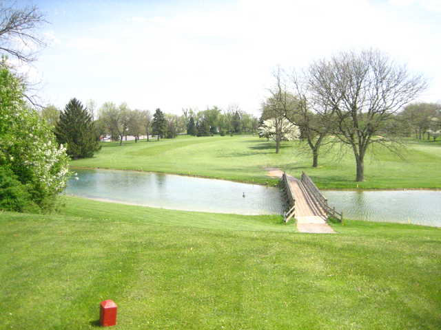 A spring day view from a tee at Cumberland Golf Club