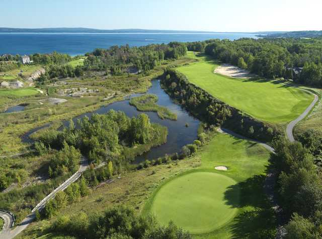 The Quarry at Bay Harbor: Aerial view of the 3rd hole