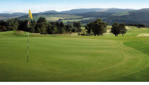 A view of the 4th green at Peebles Golf Club