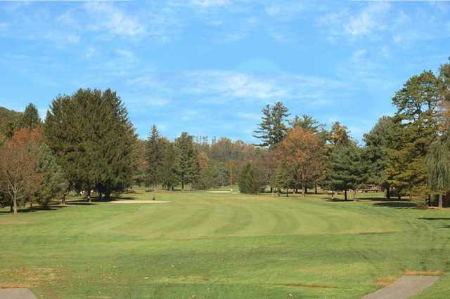 A view of the 7th fairway at Pleasant Valley Golf Club