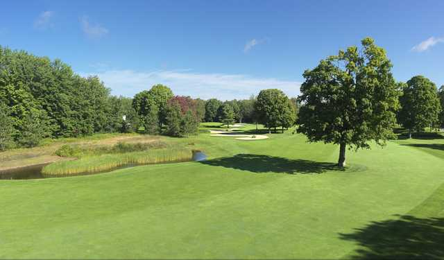 A view of the 8th hole from the Moor course at Boyne Highlands Resort