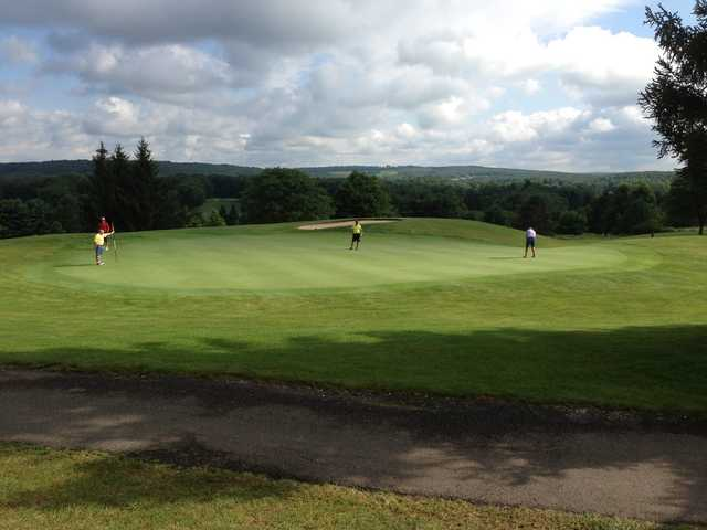 A view of a green at North Hills Golf Club