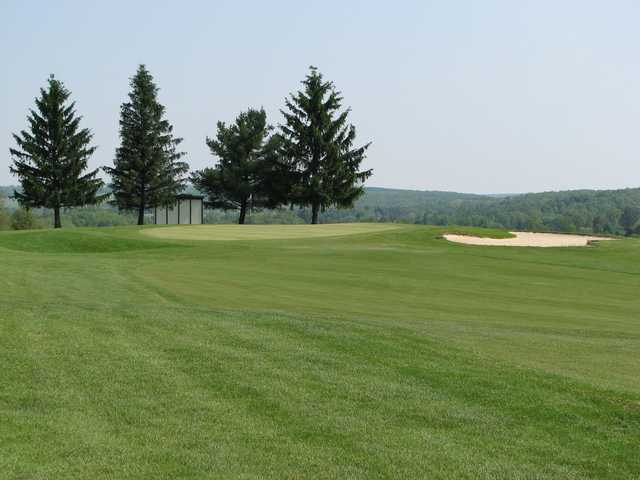 A view of a hole at North Hills Golf Club