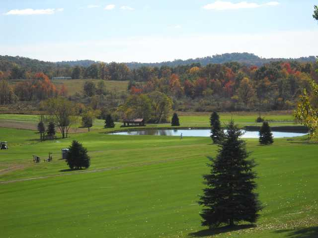 A fall sunny day view from White Oak Golf Course