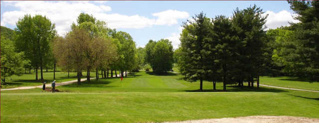 A green view from Apple Mountain Golf & Country Club