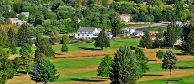 Aerial view from Harkers Hollow Golf Club