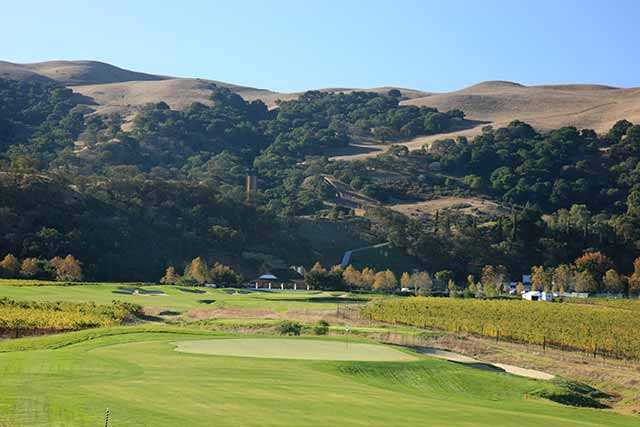 A view of hole #17 from The Course at Wente Vineyards