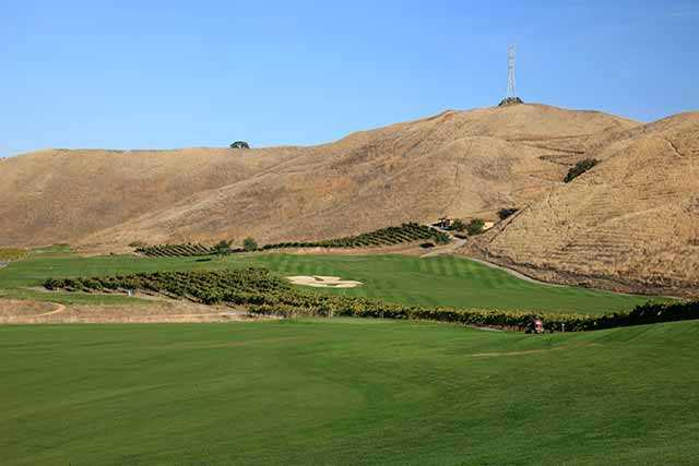 A view of hole #9 at The Course at Wente Vineyards