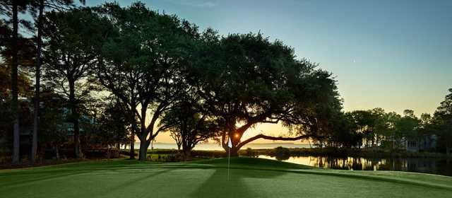 A view of a green at Oyster Reef Golf Course