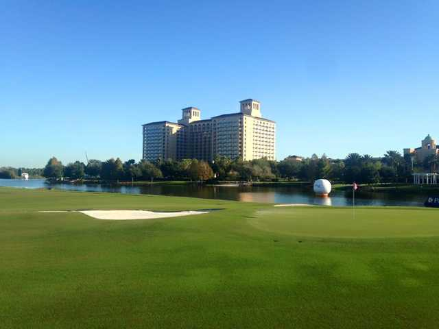 A view of a green from Grande Lakes at Ritz-Carlton Resort