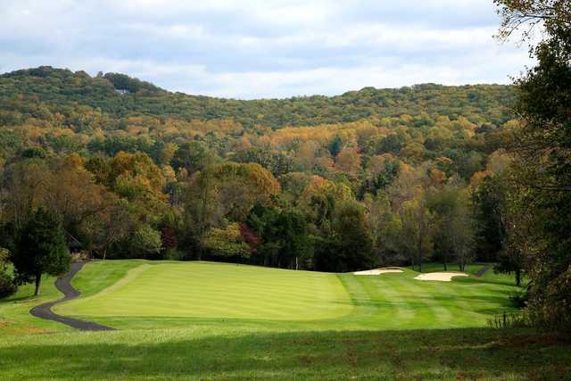 A fall day view from Birdwood Golf Course