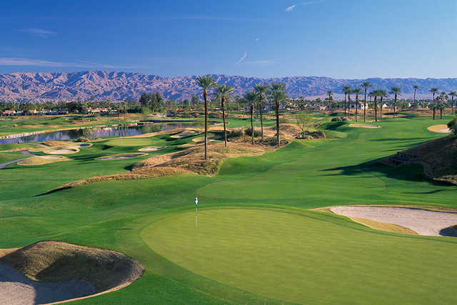 A view of a green at La Quinta Resort Dunes Course