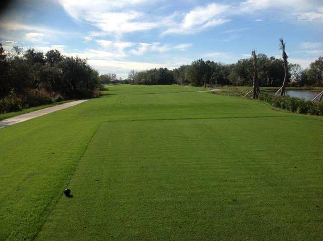 A view from a tee at Esplanade Golf & Country Club at Lakewood Ranch