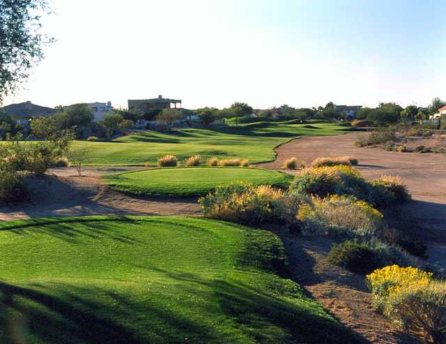 A view from a tee at Red Mountain Ranch Country Club