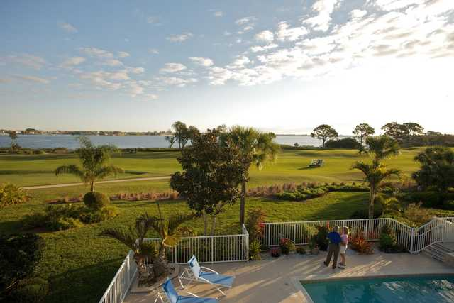 A view from the clubhouse at Harbour Ridge Yacht & Country Club