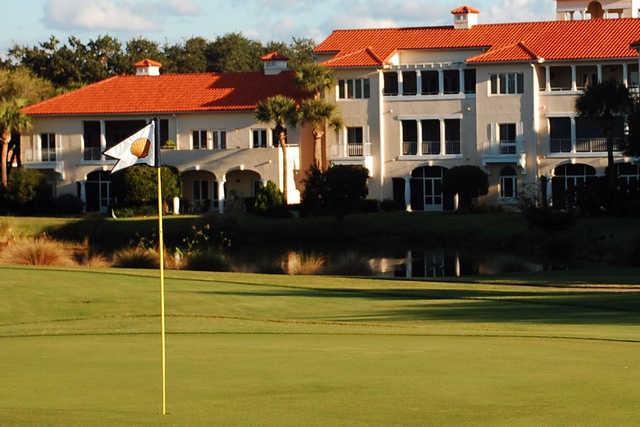 A view from a green at Grand Harbor Golf & Beach Club
